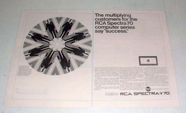 1965 RCA Spectra 70 Computer Ad - Multiplying Customers - $14.99