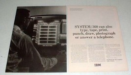 1965 IBM SYSTEM/360 Computer Ad - Can Also Type - $14.99
