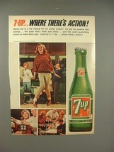 1965 Seven 7-up Soda Ad - Where There's Action! - $14.99