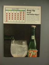 1965 Seven 7-up Soda Ad - Drink on all Red-Letter Days - $14.99