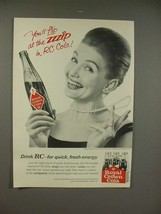 1965 Royal Crown RC Cola Soda Ad - You'll Flip at the Zzip - $14.99
