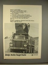 1965 Dodge Dump Truck Ad - Irene's a Real Worker! - $14.99