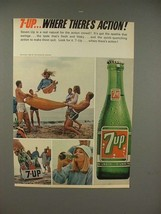 1965 Seven 7-up Soda Ad - Action! - $14.99