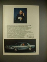 1966 Ford Mustang Hardtop Car Ad - Man in His 50's - $14.99