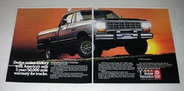 1985 Dodge Ram Pickup Truck Ad - Makes History! - $14.99
