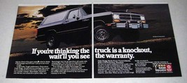 1985 Dodge Ramcharger Truck Ad - A Knockout! - $14.99