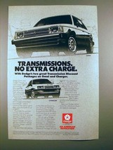 1985 Dodge Omni & Charger Car Ad - Transmissions - $14.99