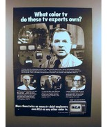 1973 RCA Television TV Ad - What do Experts Own? - $14.99