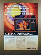1972 RCA XL-100 Television Ad - Strongest Guarantee! - $14.99