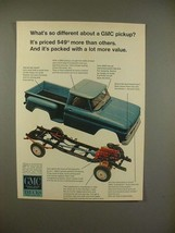 1966 GMC Pickup Truck Ad - Packed With a Lot of Value - $14.99