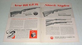 1966 Ruger Sporter, International Rifle Ad - Styles - $14.99