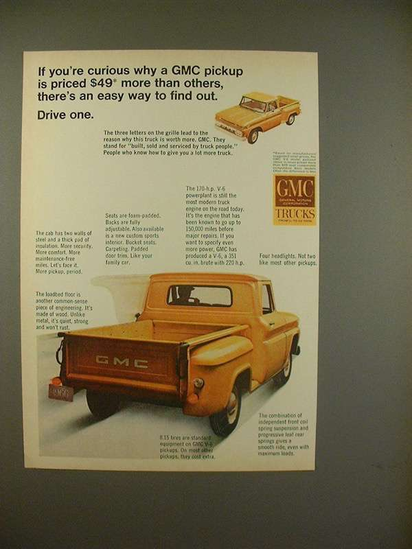1966 GMC Pickup Truck Ad - Easy Way to Find and 50 similar items