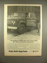 1966 Dodge Truck Ad: Overhaul 220000 Mile Not Necessary - $14.99
