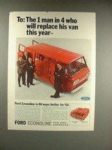 1966 Ford Econoline Van Ad - Man Who Will Replace - $14.99