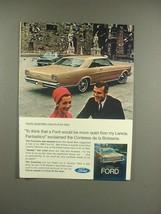1966 Ford XL Car Ad - Contessa de la Boisserie - $14.99