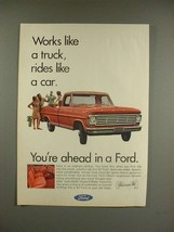 1967 Ford Pickup Truck Ad - Rides Like a Car! - $14.99