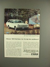 1966 Ford Fairlane 500 Station Wagon Ad - Outdoors - $14.99