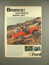 1966 Ford Bronco Truck Ad - New Kind of Sports Car - $14.99
