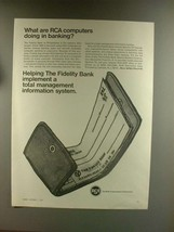 1967 RCA Computer Ad - What Are RCA Doing in Banking? - $14.99