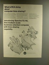 1967 RCA Spectra 70 Computer Ad - Time-Sharing - $14.99