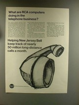 1967 RCA Spectra 70 Computer Ad - Telephone Business - $14.99