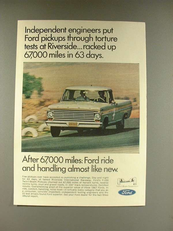 Primary image for 1967 Ford Pickup Truck Ad - Independent Engineers