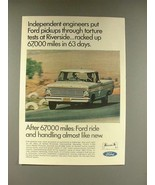 1967 Ford Pickup Truck Ad - Independent Engineers - $14.99