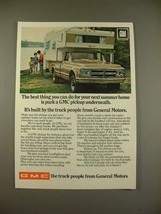 1968 GMC Pickup Truck Ad - Your Next Summer Home - $14.99