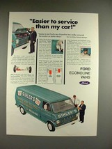 1968 Ford Econoline Van Ad - Easier to Service! - $14.99