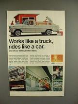 1968 Ford Pickup Truck Ad - Works Like Truck - $14.99