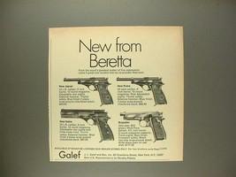 1969 Beretta Jaguar, Puma, Sable, Brigadier Pistol Ad - $14.99