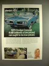 1970 Dodge Coronet 500 Car Ad - It Still Believes - $14.99