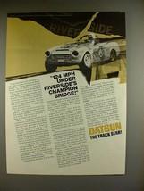 1969 Datsun 2000 Car Ad - Riverside's Champion Bridge - $14.99