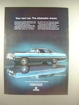 1969 Chrysler Newport Custom 4-Door Hardtop Car Ad - $14.99