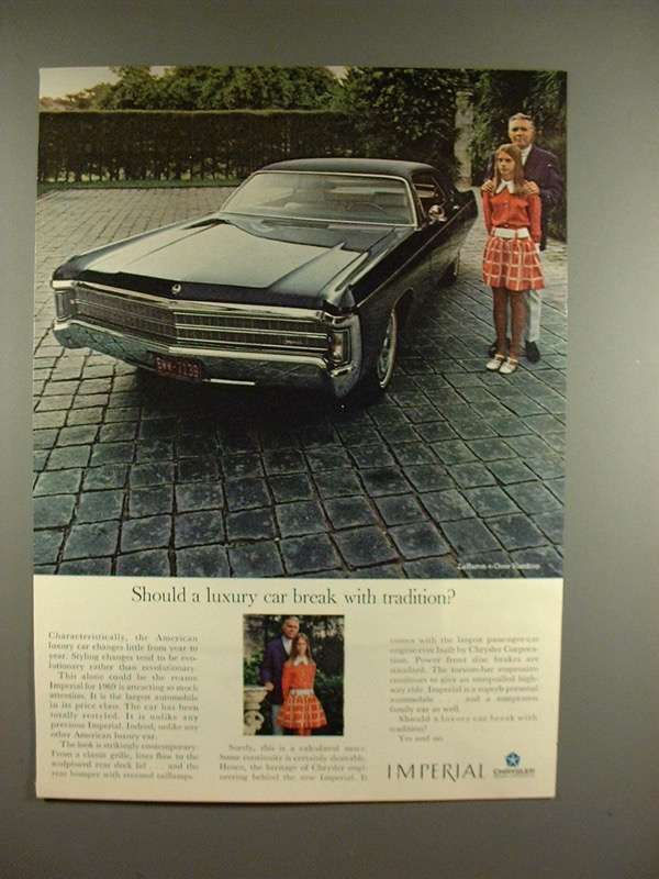 Primary image for 1969 Chrysler LeBaron 4-Door Hardtop Car Ad - Tradition
