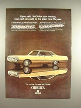 1969 Chrysler Newport 4-Door Hardtop Car Ad! - $14.99