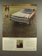 1969 Chrysler LeBaron 4-Door Hardtop Car Ad - Prestige - $14.99