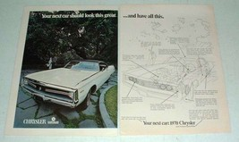 1970 Chrysler 300 Car Ad - Look Great, Have All This! - $14.99