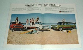 1969 International Harvester Travelall Scout Pickup Ad - $14.99