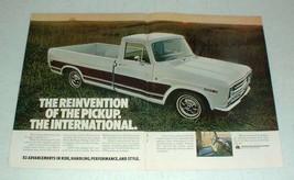 1969 2-pg International Harvester Pickup Truck Ad! - $14.99