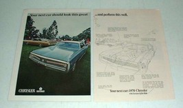 1970 Chrysler Car Ad - Look Great, Perform This Well - $14.99
