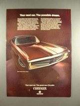 1969 Chrysler Three Hundred 2-Door Hardtop Car Ad! - $14.99