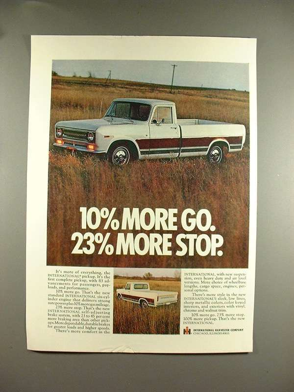 Primary image for 1969 International Harvester Pickup Truck Ad!
