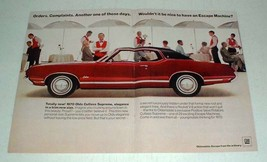 1970 Oldsmobile Cutlass Supreme Car Ad - Escape - $14.99