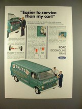 1969 Ford Econoline Van Ad - Easier to Service - $14.99