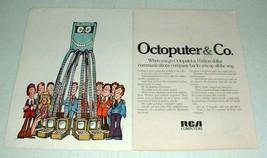 1970 RCA Computer Ad - Octoputer & Co. - $14.99