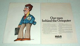 1970 RCA Octoputer Computer Ad - Our Man Behind - $14.99