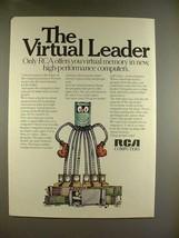 1970 RCA Computer Ad - The Virtual Leader! - $14.99