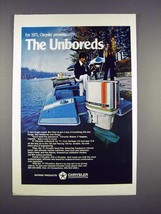 1971 Chrysler 120 Outboard Motor Ad - The Unboreds - $14.99