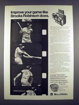 1971 Bell & Howell Movie Projector Ad, Brooks Robinson - $14.99
